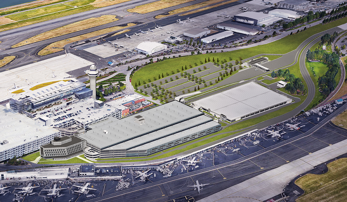 Pdx Long Term Parking >> Pdx Airport Parking Addition And Consolidated Rental Car Facility